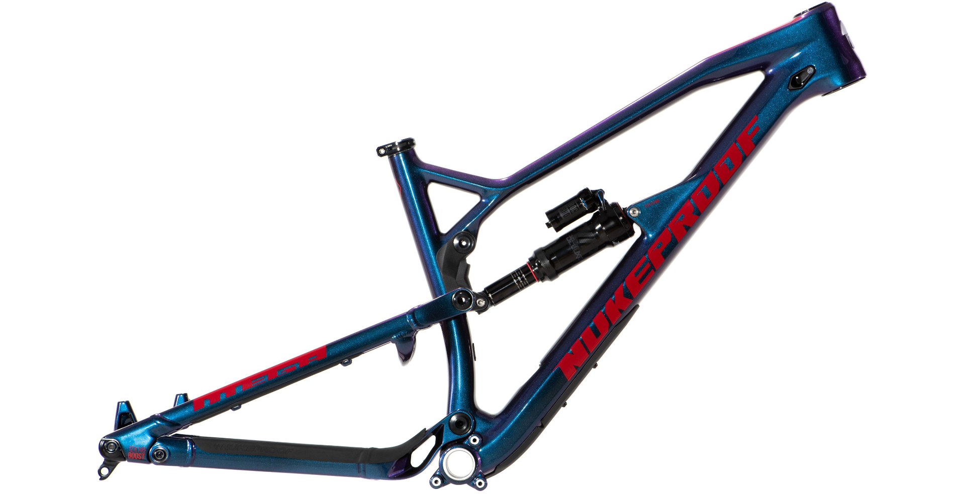 2019 Rám Nukeproof Mega 275 Carbon Blueberry Red