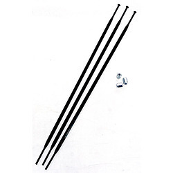 Spokes & Nipples 3-pack 276mm Bladed for S40 Front Black