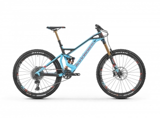 "2019 Bicykel Mondraker Dune Carbon XR 27,5"" light blue flame red Carbon"