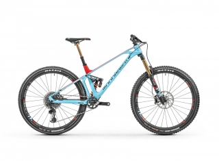 "2019 Bicykel Mondraker Foxy Carbon XR 29"" light blue flame red"