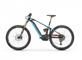 "2019 Elektrobicykel Mondraker Level RR 29"" black light blue flame red"