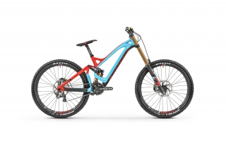 "2019 Bicykel Mondraker Summum Carbon Pro Team 27,5"" light blue flame red Carbon"