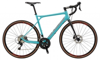 2018 Bicykel GT Grade Carbon Expert Satin Washed Turquoise Neon Red Black