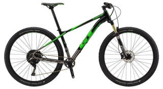 "2018 Bicykel GT Zaskar 29"" Elite Gloss Black Gun Neon Green"