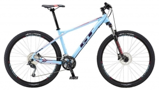 "2018 Bicykel GT Avalanche 27,5"" Womens Comp Skyblue Deep Plum Hot Pink"