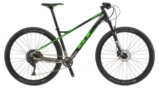 "2018 Bicykel GT Zaskar 29"" Carbon Elite Gloss Black Gun Neon Green"