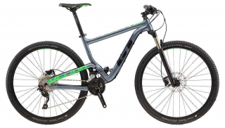 "2018 Bicykel GT Helion 29"" Elite Satin Gray Neon Green Black"