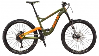 "2018 Bicykel GT Force 27,5"" Expert Military Green Orange and Neon Yellow"