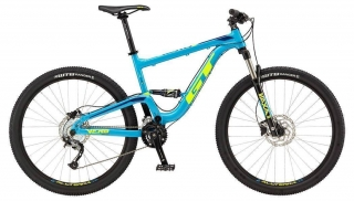 "2018 Bicykel GT Verb 27,5"" Comp Gloss Cyan Neon Yellow Deep Navy"