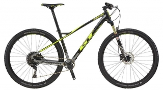 "2018 Bicykel GT Zaskar 29"" Carbon Comp Gloss Gun Neon Yellow Silver"