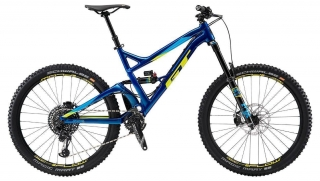 "2019 Bicykel GT Sanction 27,5"" Pro Gloss Metallic Blue Cyan Yellow"