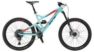 "2019 Bicykel GT Sanction 27,5"" Expert Gloss Turquoise Red Velvet Blue"