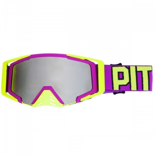 MX Okuliare Pitcha SAVAGE PURPLE/FLUO YELLOW - SILVER MIRRORED