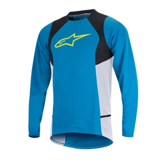 Dres Alpinestars Drop 2 L/S Jersey Bright Blue Acid Yellow
