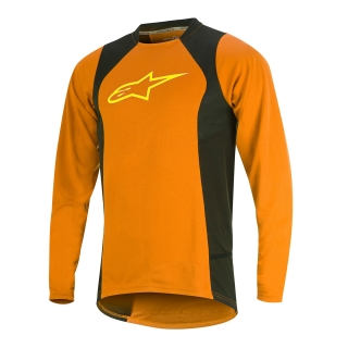 Dres Alpinestars Drop 2 L/S Jersey Bright Orange Acid Yellow