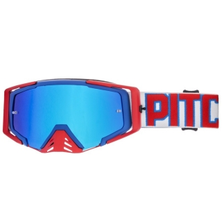 MX Okuliare Pitcha SAVAGE BLUE/RED - BLUE MIRRORED