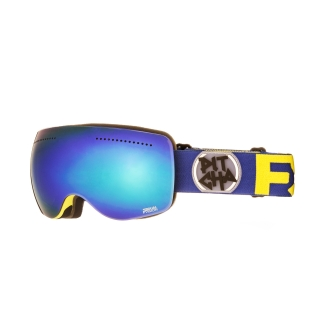 Snowbordové okuliare Pitcha FSP Fluo Yellow/Navy/Blue mirrored