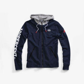 Mikina 100% Hiatus Zip Navy Heather