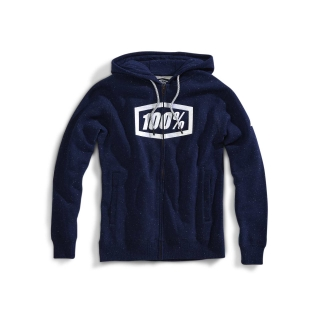 Mikina 100% SYNDICATE Zip Hooded Sweatshirt Navy/White