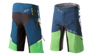Kraťasy Alpinestars Drop Pro Poseidon Blue Summer Green