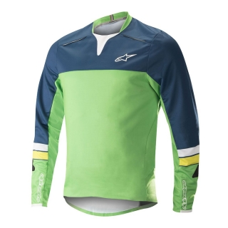 Dres Alpinestars Drop Pro L/S Poseidon Blue Summer Green