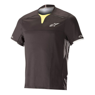 Dres Alpinestars Drop Pro S/S Black Acid Yellow