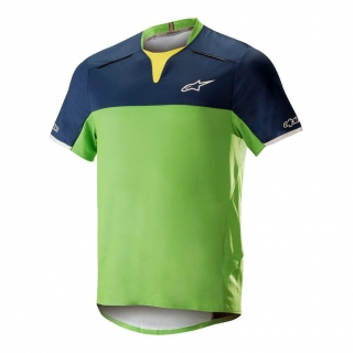 Dres Alpinestars Drop Pro S/S Poseidon Blue Summer Green