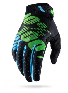 Rukavice 100% Ridefit Black/Lime
