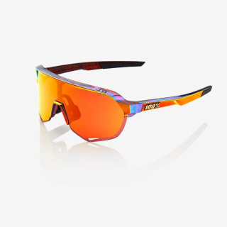 Okuliare 100% S2 Peter Sagan Chromium Red / HiPer Red Multilayer Mirror Lens