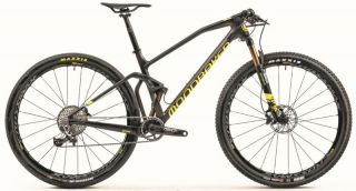 "2019 Bicykel Mondraker F-Podium Carbon R 29"" Carbon yellow light blue"