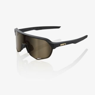 Okuliare 100% S2 Matte Black w/ Flash Gold Lens