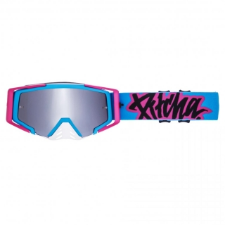 MX Okuliare Pitcha SAVAGE Cyan/Pink Silver Mirrored
