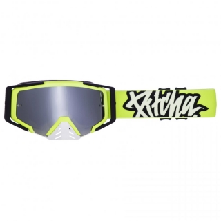 MX Okuliare Pitcha SAVAGE Fluo/Black Silver Mirrored