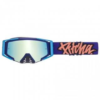 MX Okuliare Pitcha SAVAGE Blue/Orange Green Mirrored
