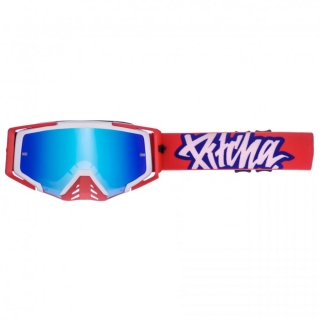 MX Okuliare Pitcha SAVAGE Blue/Red Blue Mirrored