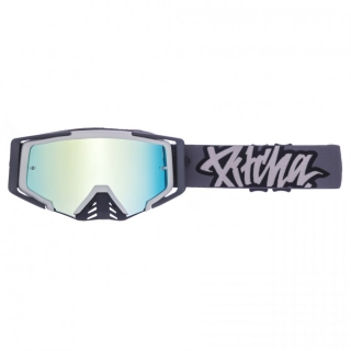 MX Okuliare Pitcha SAVAGE Black/Grey Green Mirrored