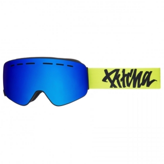 Snowbordové okuliare Pitcha XC3 Fluo Yellow Black Full Revo Blue