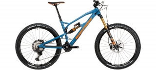 2020 Bicykel Nukeproof Mega 275 Factory Blue-Orange