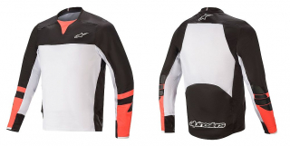 Dres Alpinestars Drop Pro L/S Black White