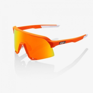 Okuliare 100% S3 - Soft Tact Neon Orange - HiPER Red Multilayer Mirror Lens