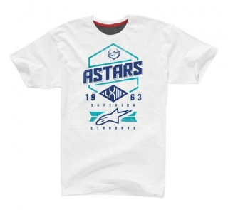 Alpinestars HEX Tech Tee Ride Dry - White Blue Stratos