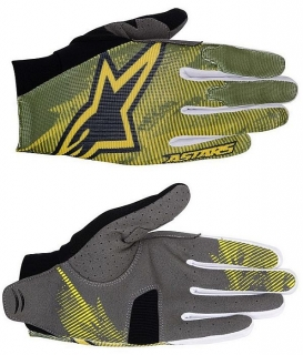 Rukavice Alpinestars Aero Elmwood Green Yellow