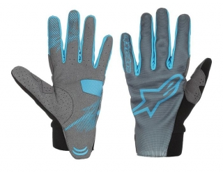 Rukavice Alpinestars Aero Steel Gray Bright Blue