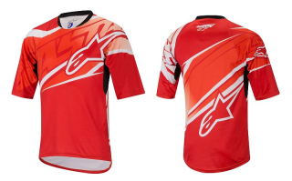 Dres Alpinestars Sight S/S Red/Spicy Orange